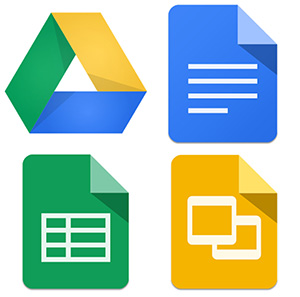 Picture of google apps icons